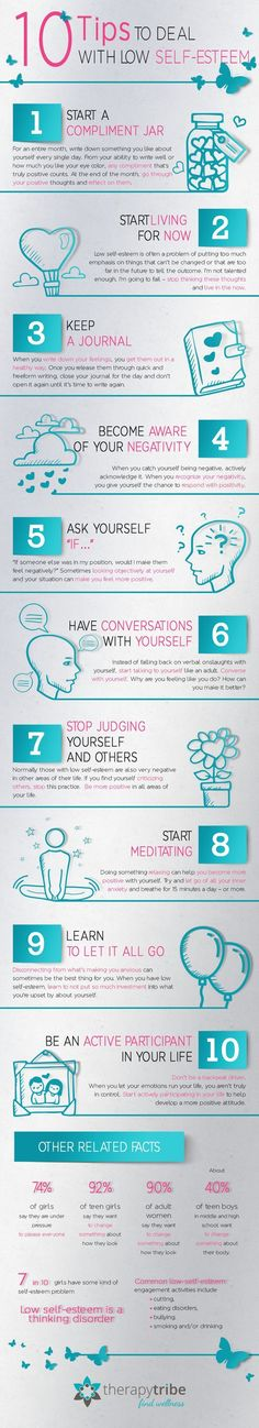 """No-nonsense tips to deal with low self-esteem. A poor self-image discourages productivity and hampers action. It is also responsible for """"chronic"""" unhappiness. Here are some no-nonsense tips to deal with low self-esteem. Stress Management, Inspirierender Text, Self Image, Low Self Esteem, Self Development, Personal Development, Self Help, Counseling, Life Lessons"""