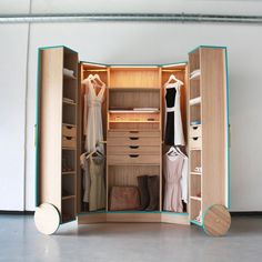 Hosun Ching's Walk-in Closet – a wardrobe that cleverly opens out into a mini-fitting room, completed with mirrors to view outfits from every angle.