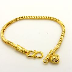 85eb844f6383 Snake Bone Bracelet Yellow Gold Filled Womens Mens Fashion Bracelet Chain