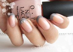 Trendy Ideas Pink And Grey French Manicure Tips French Manicure Acrylic Nails, French Tip Nails, Gel Nail Art, Manicure Colors, Manicure Tips, Nail Tips, Nail Polishes, Manicures, Acrylic Nail Shapes