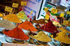 spice market in Jerusalem, Israel