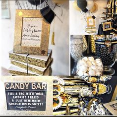 Black and gold party,black and gold graduation, graduate,graduation party,graduation decorations,black and gold graduation party