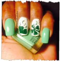 shamrock delight by nailedbydeshea from Nail Art Gallery