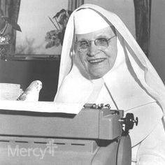 Sister Bernard loved her little parakeet, as they worked together in the medical records office in Ft. Scott, Kan. in 1967. #throwbackthursday #tbt
