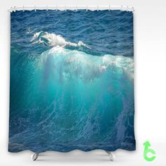 cheap ocean waves shower curtain