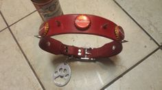 Custom Budweiser Beer Bottle Cap Spike Leather by TwoSticksLeather, $38.99