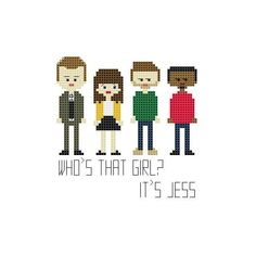 New Girl Cross Stitch by YouMakeMeSewHappy on Etsy, $2.99