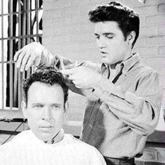 Elvis does hair ✂️ #TBT #ElvisPresley #PivotPoint