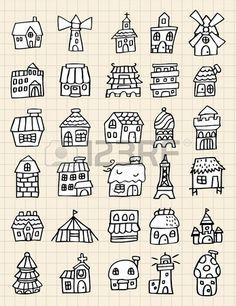 Häuser, Strichzeichnung