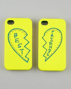 D0GNG Rebecca Minkoff Best Friends iPhone 4 Case Set, Yellow/Teal