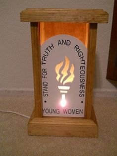 Divine Nature Light Box Slide! This young women torch light box slide is great to use on your main young women table, new beginnings, or a great gift for all the girls,