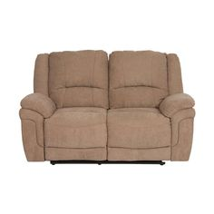 Find your comfort zone with our Devon microfiber reclining loveseat. The chaise-style recliners, padded arms, and ergonomic lumbar support make this a set that is built for relaxation. Its stain resistant microfiber is durable and easy to clean yet soft to the touch. The Devon beige loveseat is c...