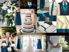 A feel for Teal : PANTONE WEDDING Styleboard : The Dessy Group