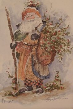 PEGGY ABRAMS TALLY HO HO HO Pinterest Santa