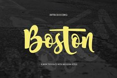 Best Boston Font (fonts duo)  CreativeWork247 - Fonts, Graphics, Themes, Te...