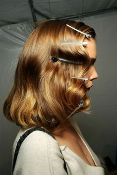 pin curls old hollywood style