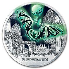2019 Austrian colorful creature series 10-Fluorescent turtle Copper nickel coin