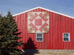 Christmas Star - this is my neighbor's barn!