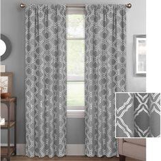 Better Homes And Gardens Metallic Trellis Gold Foil Curtain Panel