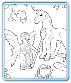 playmobil fairy coloring pages