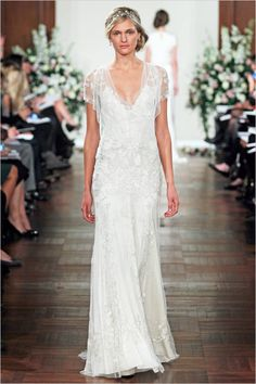 JennyPackhamSpring2013 romantic wedding dress. Loving the shoulder detail