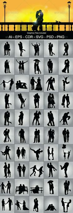 Romantic Couple Silhouette – People Characters I am going to use some of these in my art! Romantic Couple Silhouette – People Characters I am going to use some of these in my art!