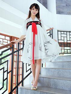 Chic V-neck cheongsam Womens 2019 summer new national style Hanfu modified dress