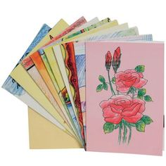 Pack of 10 Assorted Cards Made by Children from India