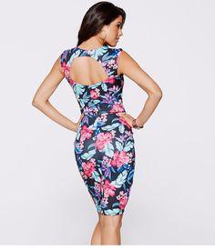 Sleeveless Floral Print Halter Wrap Beauty Dress - uniqistic.com/