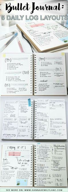 Change up your bullet journal pages with this daily log layout inspiration - bujo layouts and spreads