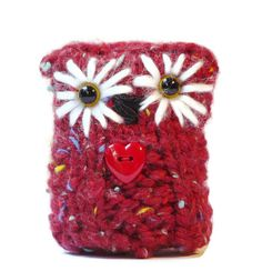 Red Knitted Owl Amigurumi Owls Home and by LittleOwlsandPals