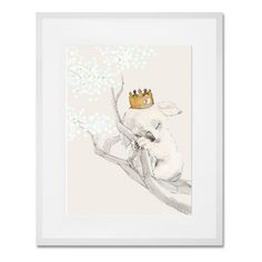 Framed and Matted Koala with Crown Giclee Print ($189) ❤ liked on Polyvore featuring home, home decor, wall art, framed wall art, giclee wall art and crown wall art
