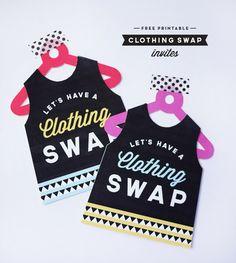 Printable Clothing Swap Invites | Oh Happy Day!
