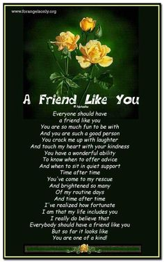 friendship poems | friend Like You : Friendship Poetry