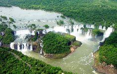 Iguazu waterfalls at the border of Brazil and Argentina