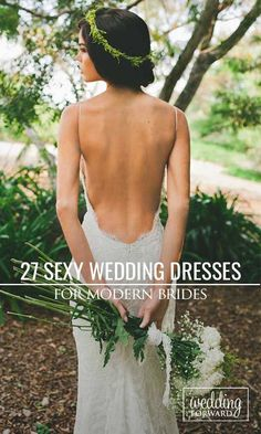 27 Wedding Dresses That Are So Sexy ❤ Don't want to look like white princess in your wedding dress on your big day? See more: http://www.weddingforward.com/sexy-wedding-dresses-ideas/ #wedding #dress