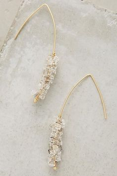 Crystallized Open Hoops - anthropologie.com