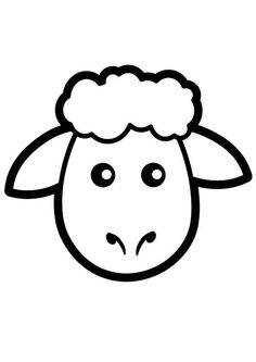 Coloriage mouton. Images pour l'écoles et l'éducation. Dessins et photos éducatives. Ressources pédagogiques. Dessin 20037.