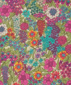 Ciara Liberty fabric is a re-imagined print taken straight from a popular Liberty scarf pattern, a new and exciting addition to the classic Tana Lawn collection. Textile Patterns, Textile Prints, Textile Design, Fabric Design, Floral Prints, Floral Patterns, Liberty Art Fabrics, Liberty Print, Surface Pattern Design