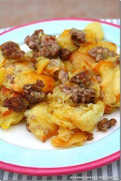 Panza & Presenza: La salsiccia con patate e scamorza affumicata