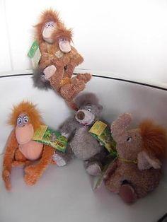 Jungle Book 158765: Bnwt Rare Uk Disney Store Jungle Book 3 Monkeys King Louie Baloo Hathi Jnr Plush -> BUY IT NOW ONLY: $99.99 on eBay!
