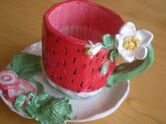 Strawberry TeaCup by ~Portrait-Angel on deviantART