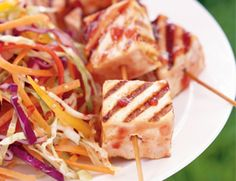 Tofu Kabobs with Cherry Barbecue Sauce