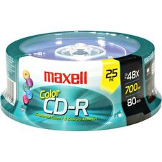 Maxell CD-R 700 5PK SLIM CASE 80-Min/700 MB CD-R Slim Cases, 25 Pack by Maxell. $10.60. High capacity, write once recordable compact disc.. Save 70%!