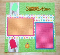 Summer Scrapbook Layout  Summertime Scrapbook by AngelBDesigns4You
