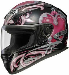 Shoei RF-1100 Helmet - Corazon TC-7 This will match the black and pink ninja I pinned!