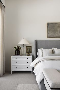 PC Contemporary Project: The Primary Suite Anthropologie Home, Studio Mcgee, Dresser As Nightstand, Beautiful Bathrooms, Home Decor Bedroom, Interior Design Inspiration, Home Furnishings, Decor Styles, House Design