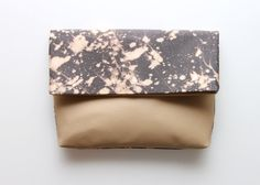 SPLASH/ Hand colored folded clutch by DDSLLGirlsStore on Etsy, $39.00
