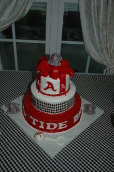 Alabama Crimson Tide baby shower cake