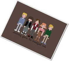 Pixel People - The Breakfast Club - PDF Cross Stitch Pattern - INSTANT DOWNLOAD (pattern by weelittlestitches)